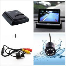 "Car Reverse Rear View IR Night Vision HD Camera+4.3""LCD Foldable Display Monitor"