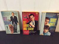 Get Smart! 3 Book Series~1966 TV Tie-In~Don Adams~Barbara Feldon~Agent 86