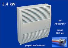 Außenwandheizer 3,4 kW für Propangas /Gasheizung Gasheizautomat Haller Meurer HM