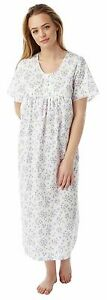 """Ladies Floral Lightweight Nightdress 48"""" long 3 Colours Sizes 10 to 22"""