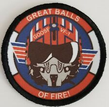 Top Gun Goose Great Balls of Fire Morale Patch Tactical Military USA Army Flag
