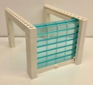 Lego Sliding Garage Door Kit: city town full assembly: police white blue