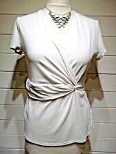 Kaliko Top - Size 14 - White - Cap Sleeve - Casual Everyday Party - 510