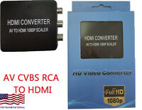 RCA to HDMI Converter Composite 720/1080p AV CVBS Video Adapter for Wii NES SNES