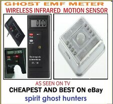 GHOST EMF SPIRIT READER METER PARANORMAL DETECTOR AND HUNT MOTION SENSOR ALARM