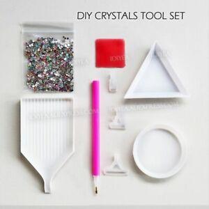Nail Decor Crystals Hotfix Rhinestones Glitter Pen Box Arranger Tray Plate Tool