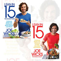 Joe Wicks 2 Books Collection Set (Lean in 15 -The Shape Plan)New Pack Paperback