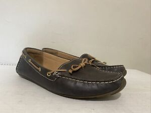 LADIES CLARKS DUNBAR GROOVE LEATHER BOAT SHOES LOAFERS UK 5 E EU 38 WIDE FIT