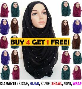 Glitter sparkle shimmer style hijab maxi scarf plain colours viscose shiney sToN