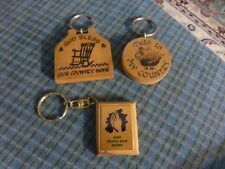 Vintage COUNTRY HOME BLESSING WOOD KEYCHAIN Kitchen Magnet Lot Of 3 Collectors !