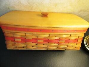 Longaberger Mother's Day Vanity Basket / Protectors & Lid Combo