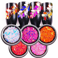 Horse Eye Glitter AB Colors Nail Art Sequins Acrylic UV Polish 3D Decoration DIY