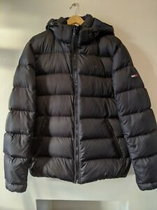 Men's black down filled Tommy Hilfiger puffa coat - size XL - immaculate