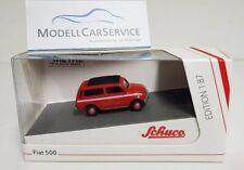 Schuco 1/87 (H0): 26515 Fiat 500 Giardiniera, rot