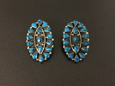 Clip On Earrings Vintage Mexico Faux Turquoise