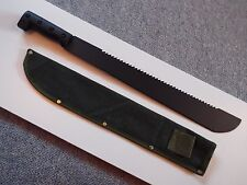 "SAWBACK MACHETE / WITH SHEATH  - 18""Blade - Overall  Length 570mm - Brand new"