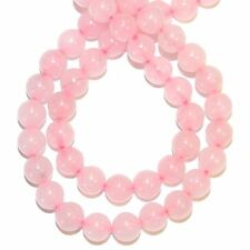 GR417f Pink Rose Quartz 6mm Round Polished Gemstone Beads 15""