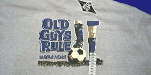 OLD GUYS RULE T-SHIRT 4 XL  lifes a pitch football SIZE XXXXL Cotton SHIRT new