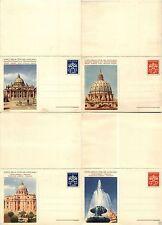 VEDUTE C14+C15 - 1958 - I due interi postali con risposta - Nuovi