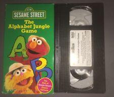Sesame Street - The Alphabet Jungle Game (VHS, 1998) Elmo RARE