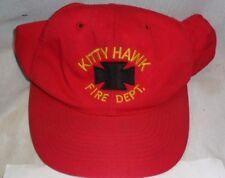 Kitty Hawk Fire Dept Vintage Baseball Cap Hat Snap Back Adjustable