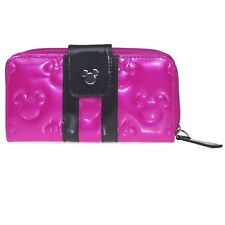 Disney Parks Embossed Minnie Loves Mickey Fuchsia Wallet - Hot Pink