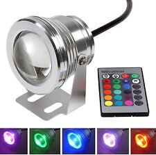 Faro RGB,luce ambientale a led,10W.Illuminazione luce proiettore con telecomando