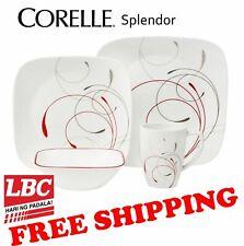 Corelle square splendor 16PC dinnerware set