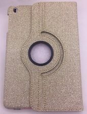 Gold Glitter Case For iPad Air 2 Rotating 360 Stand Cover Sparkly Bling