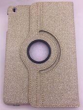 Oro brillo funda para iPad Mini 1 2 3 360 Base Giratoria Cubierta Brillante Bling