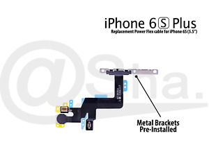 """Power & Flash Light Flex Cable With Bracket Replacement for iPhone 6S Plus 5.5"""""""