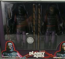 "Neca Planet Of The Apes Infantry 2- Pack Gorilla Soldiers 7"" Action Figures"