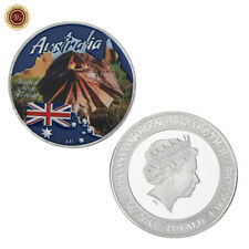 WR Australia Frilled Neck Lizard $1 SILVER Coin Wildlife Wild Animal Collectible