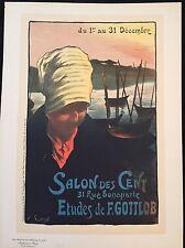"""F. GOTTLOB """"SALON DES CENT"""" 1900"""