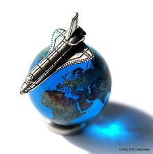 22mm earth globe verre marbre & miniature navette spatiale set-cosmique planète monde