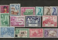 FIJI Small Collection of Mostly Mint Stamps KGVI and QEII BRITISH COLONIES