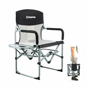 KingCamp Heavy Duty Compact Camping Folding Mesh Chair with Side Table & Handle