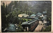 """Vintage Antique Train Post Card, """"The Limited"""" at Shasta Springs (California)"""