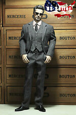 1/6 Men Business Suit Set GRAY For Iron Man Hot Toys Phicen Male Figure ❶USA❶