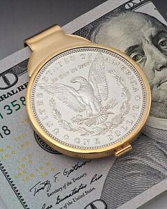 Morgan Dollar Money Clip, American Eagle Money Clip, Mens Gifts, ( # 325UM )