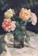Erno Elemér TSCHEIK (1880-?) Rosen in Vase
