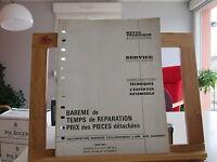 REVUE TECHNIQUE AUTOMOBILE MARS 1967 TBE BAREME TEMPS DE REPARATION PRIX