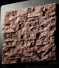 15 pcs CONCRETE CEMENT VENEER CASTLE WALL STONE STACKSTONE TILE CASTING MOLD ```