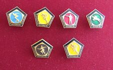 RUSSIA USSR MOSCOW 1980 OLYMPIC GAMES 6 PIN BADGE SET LOT