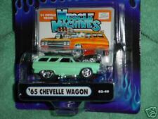 MUSCLE MACHINES 02-49 '65 CHEVELLE WAGON MINT GREEN FREE USA SHIPPING