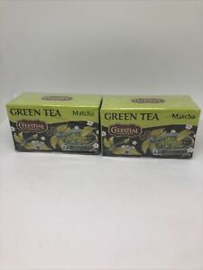 Lot of 2 Celestial Seasonings Green Tea Matcha Gluten Free tea Bags