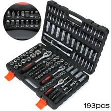 "Professional 193 Pcs Ratchet Spanner Socket Set 1/2"" 1/4"" 3/8"" Tool Kit Toolbox"