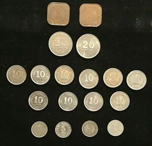 LOT. Malaya.  1,5, 10, 20 cent Coins. Some a/UNC 18 coins