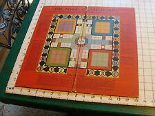 vintage game board only: hazel l. fauber designed THE NINE GAME BOARD w/ wear