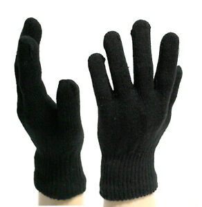 Men Gloves Cycling Winter Warm Thermal Women Mittens Cycling Woolly Unisex Black